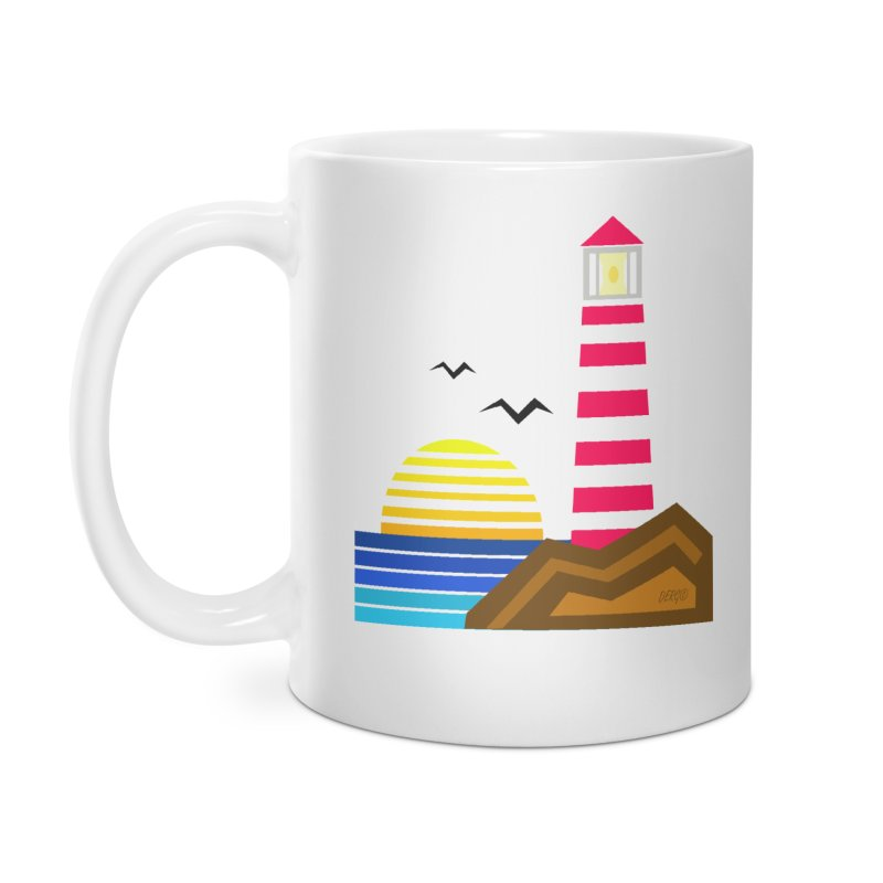 Lighthouse Accessories Mug by DERG's Artist Shop