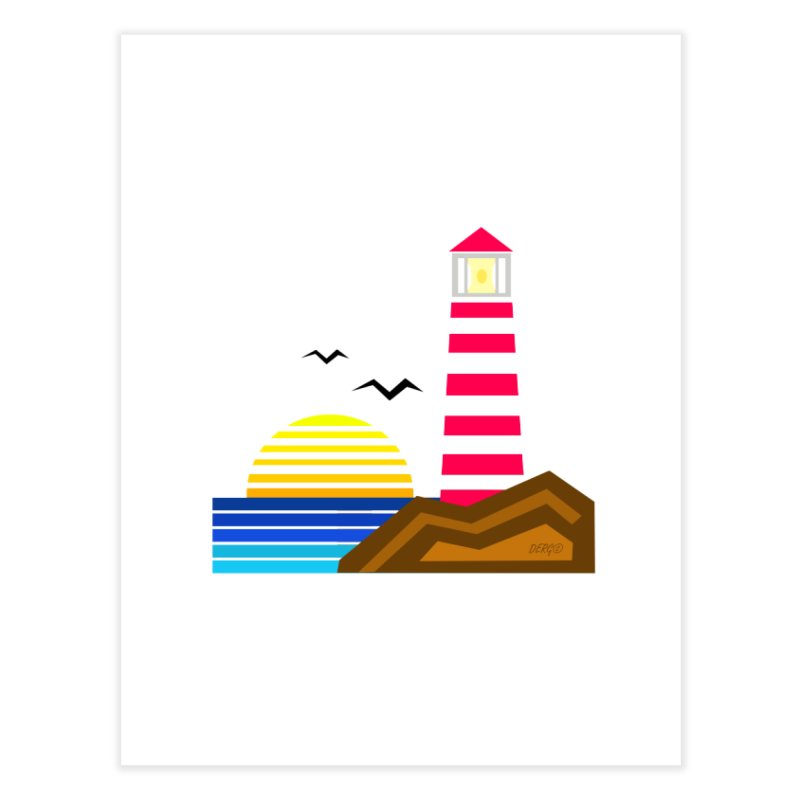 Lighthouse Home Fine Art Print by DERG's Artist Shop