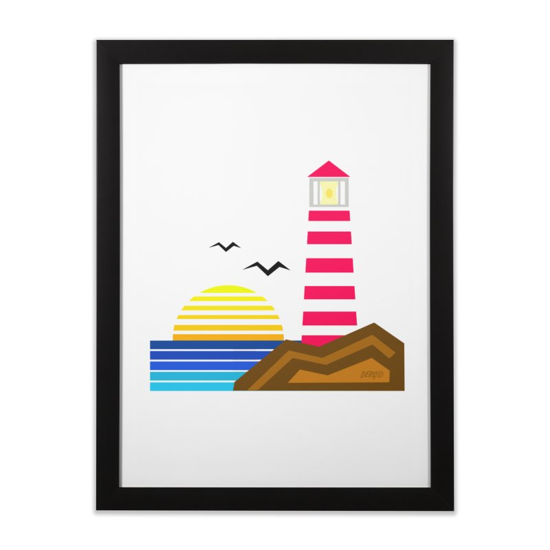 Lighthouse Home Framed Fine Art Print by DERG's Artist Shop