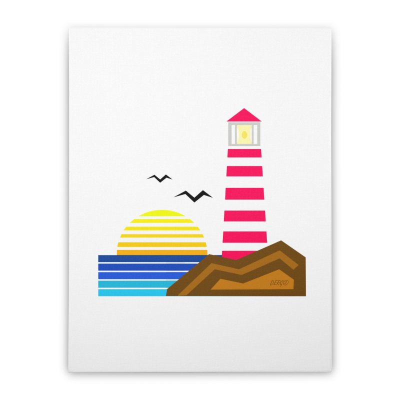 Lighthouse Home Stretched Canvas by DERG's Artist Shop