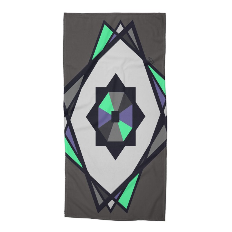 Abstract Accessories Beach Towel by DERG's Artist Shop
