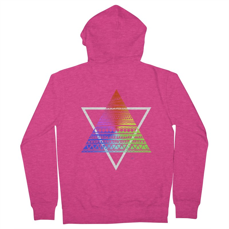 Pyramid Women's Zip-Up Hoody by DERG's Artist Shop