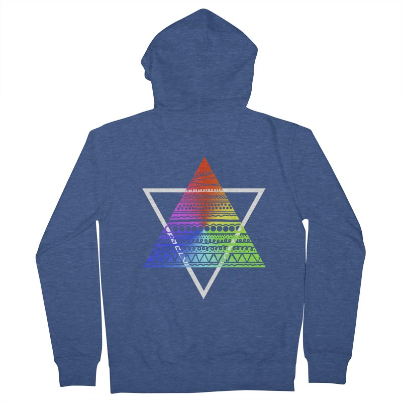 Pyramid Men's Zip-Up Hoody by DERG's Artist Shop