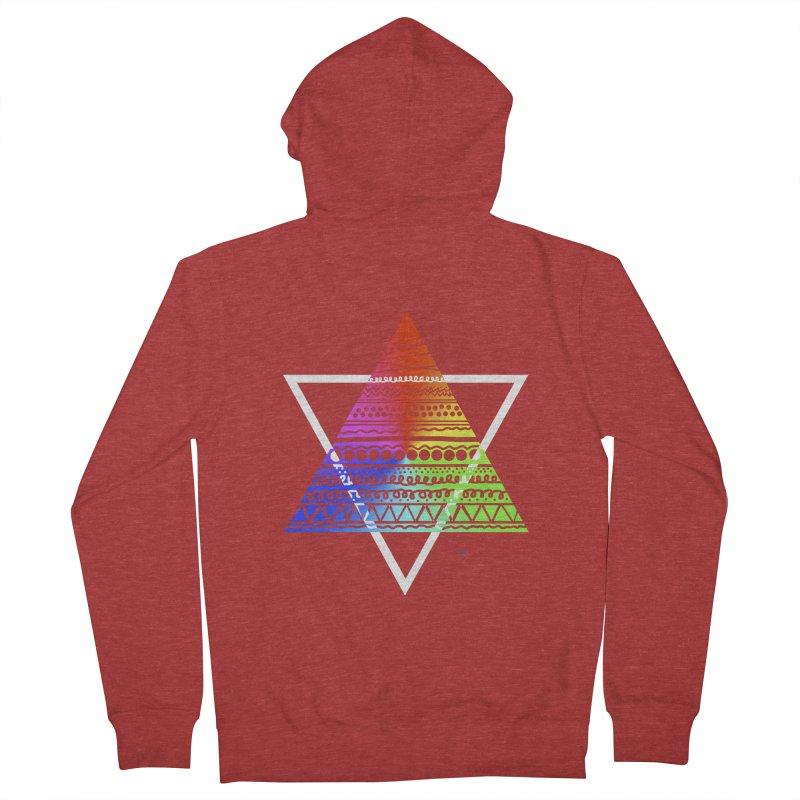 Pyramid Men's Zip-Up Hoody by DERG's Artist Shop