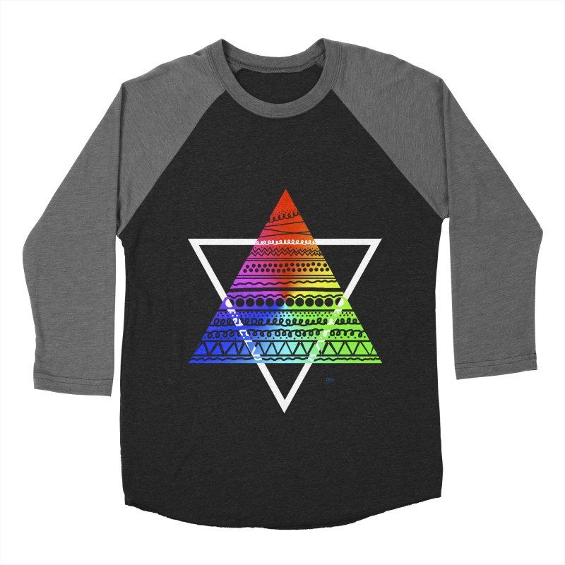 Pyramid Women's Baseball Triblend T-Shirt by DERG's Artist Shop