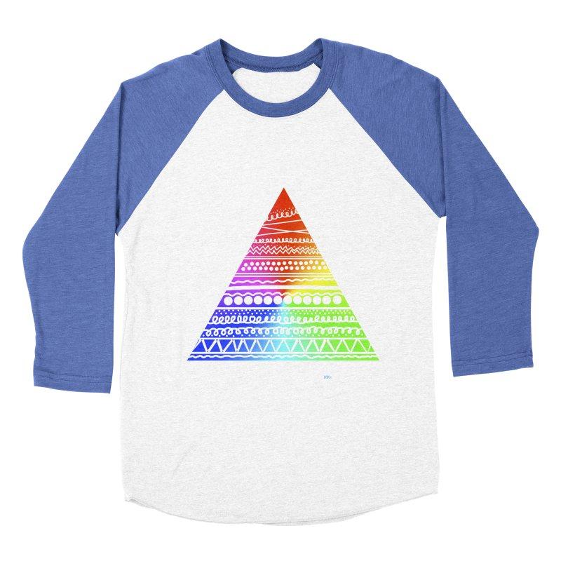 Pyramid Men's Baseball Triblend T-Shirt by DERG's Artist Shop