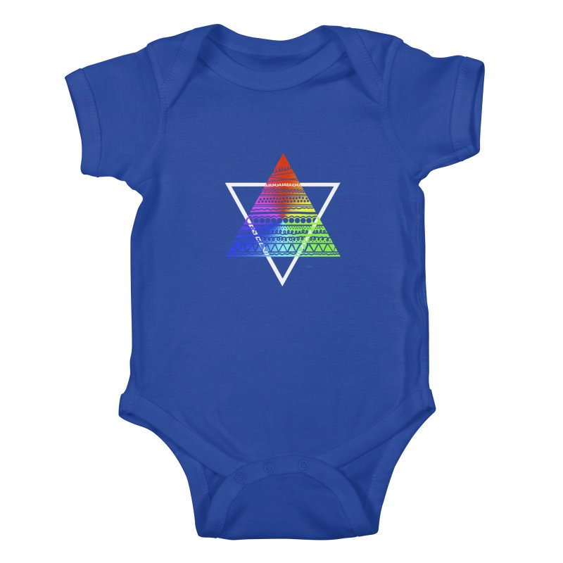 Pyramid Kids Baby Bodysuit by DERG's Artist Shop