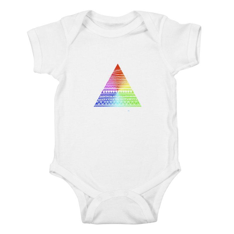 Pyramid Kids Baby Bodysuit by DERG's Artist Shop