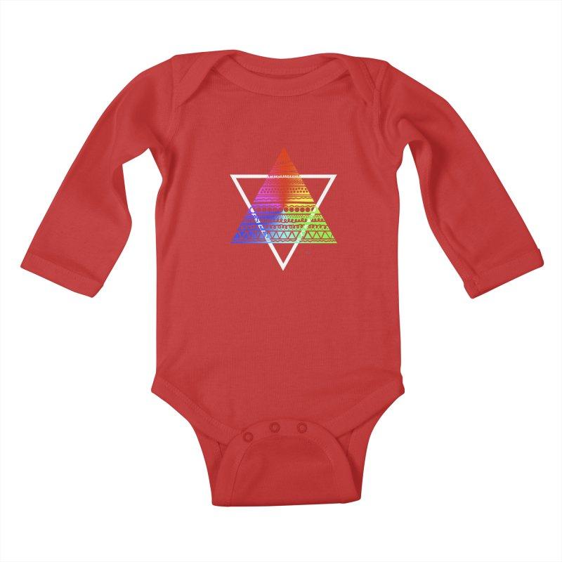 Pyramid Kids Baby Longsleeve Bodysuit by DERG's Artist Shop