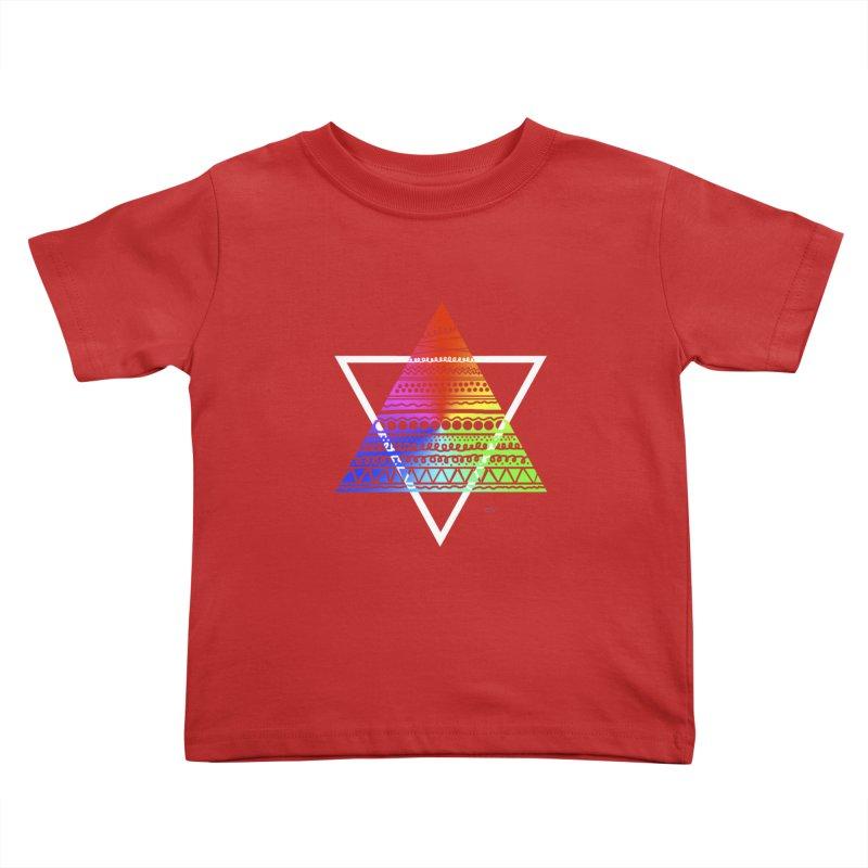 Pyramid Kids Toddler T-Shirt by DERG's Artist Shop