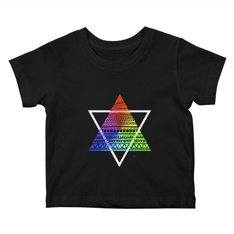 Pyramid Kids Baby T-Shirt by DERG's Artist Shop