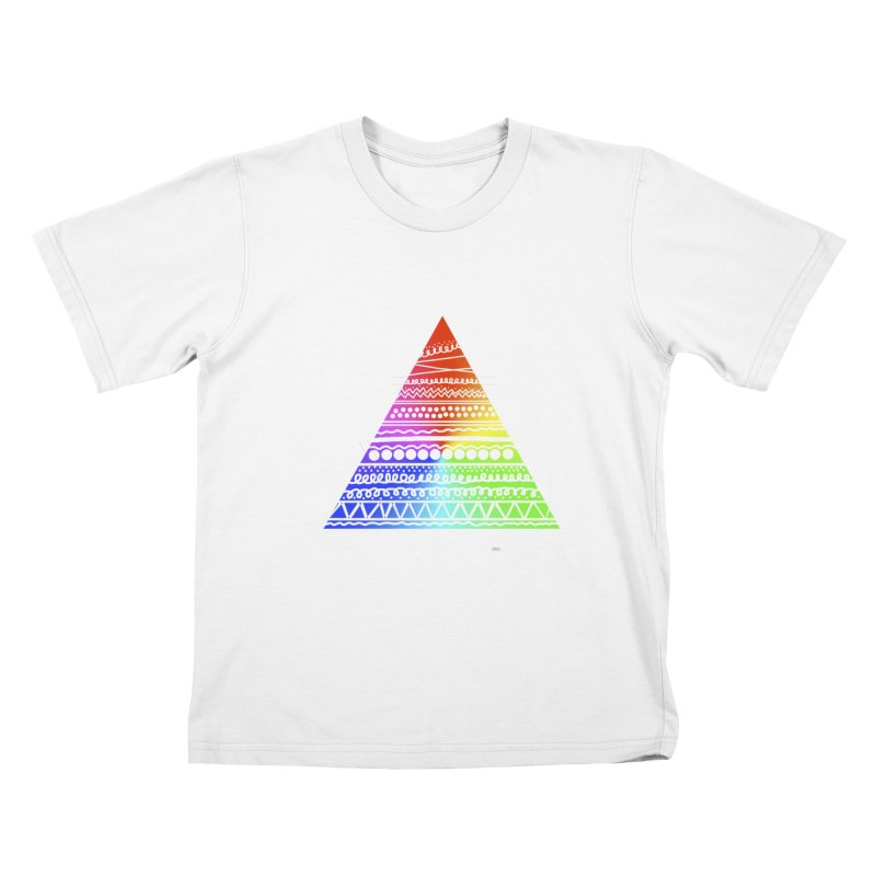 Pyramid Kids T-shirt by DERG's Artist Shop