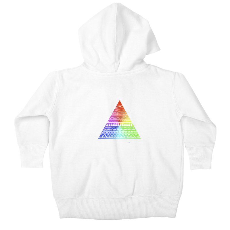 Pyramid Kids Baby Zip-Up Hoody by DERG's Artist Shop