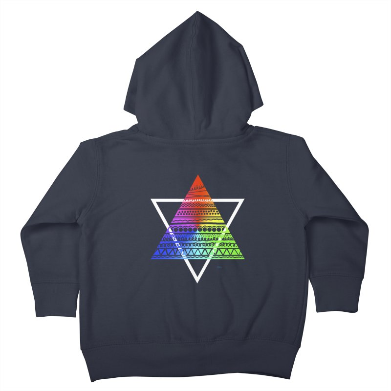 Pyramid Kids Toddler Zip-Up Hoody by DERG's Artist Shop