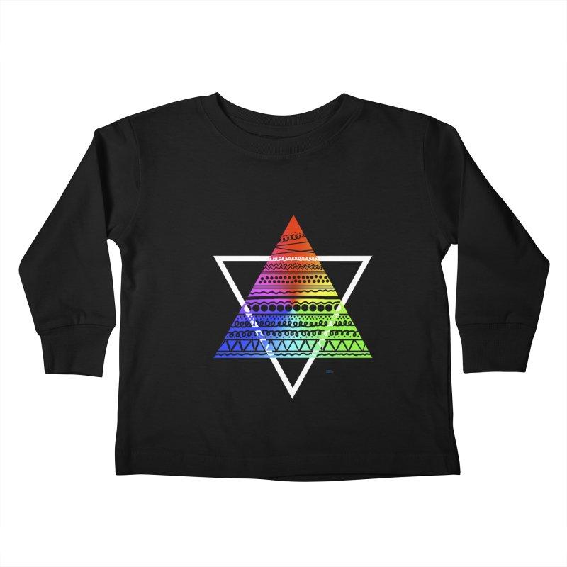 Pyramid Kids Toddler Longsleeve T-Shirt by DERG's Artist Shop