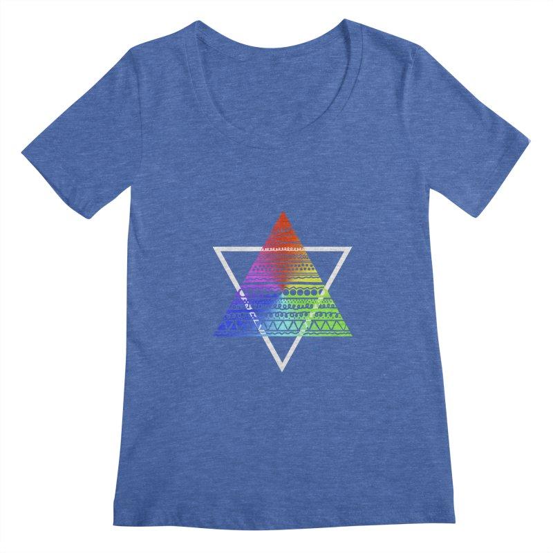 Pyramid Women's Scoopneck by DERG's Artist Shop