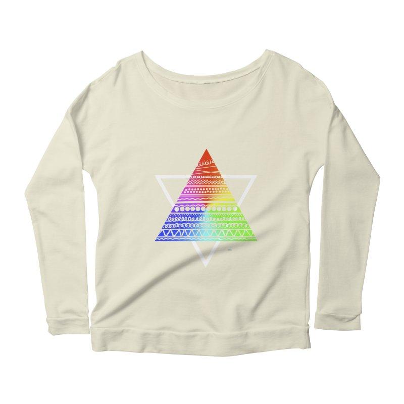 Pyramid Women's Longsleeve Scoopneck  by DERG's Artist Shop