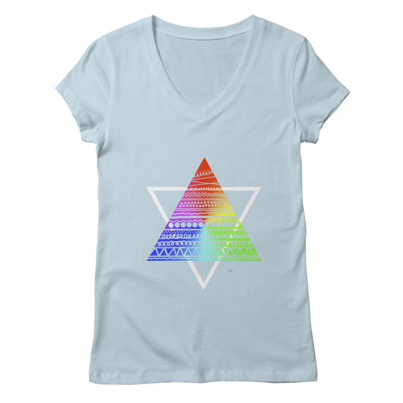 Pyramid Women's V-Neck by DERG's Artist Shop