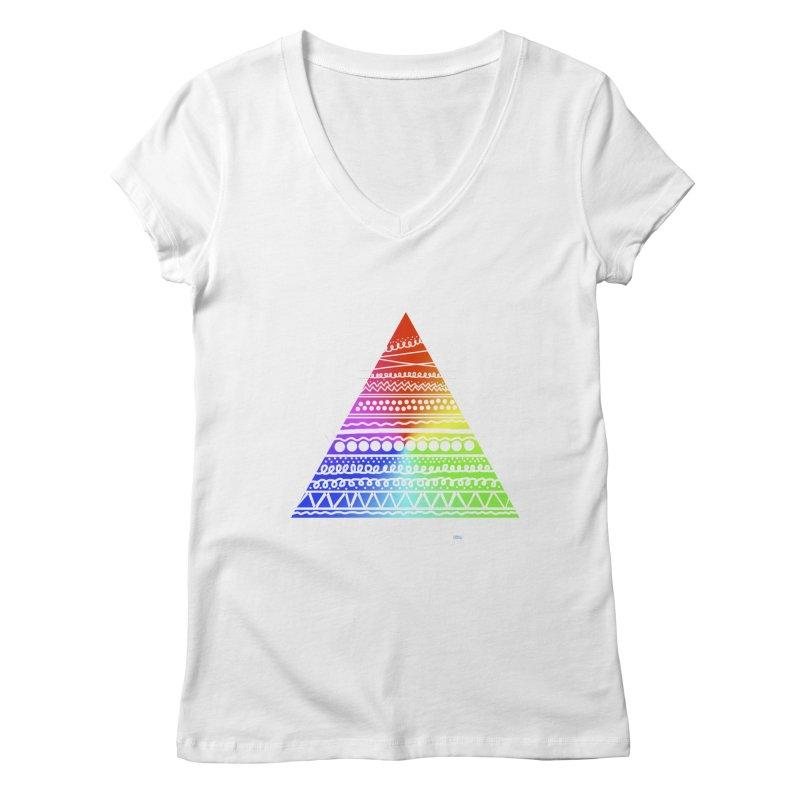 Pyramid Women's V-Neck by DERG's Artist Shop