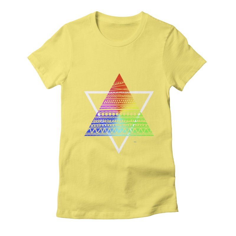 Pyramid Women's Fitted T-Shirt by DERG's Artist Shop