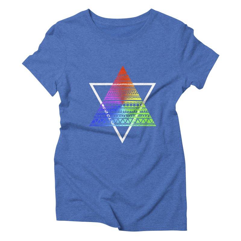 Pyramid Women's Triblend T-shirt by DERG's Artist Shop
