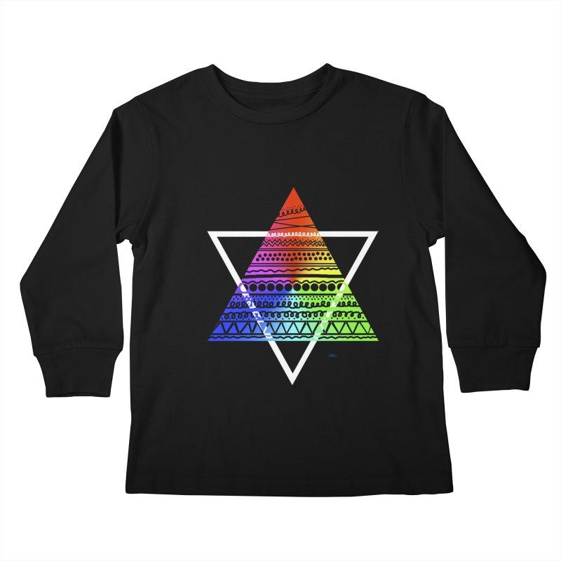 Pyramid Kids Longsleeve T-Shirt by DERG's Artist Shop