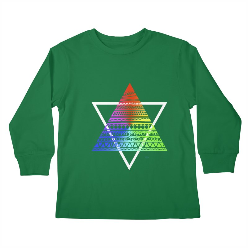 Pyramid Kids Longsleeve T-Shirt by DERG's Artist Shop