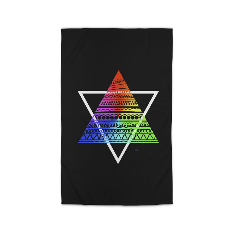 Pyramid Home Rug by DERG's Artist Shop