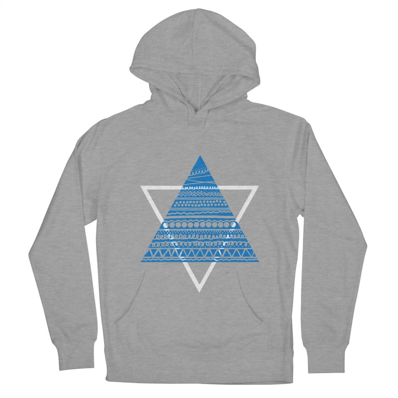 Pyramid blue Women's Pullover Hoody by DERG's Artist Shop
