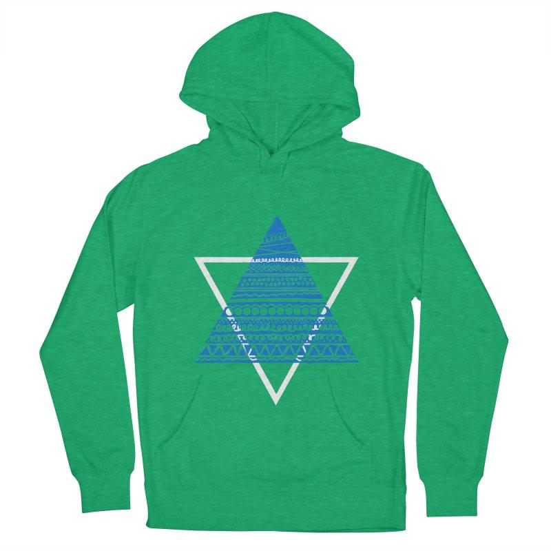 Pyramid blue Men's Pullover Hoody by DERG's Artist Shop