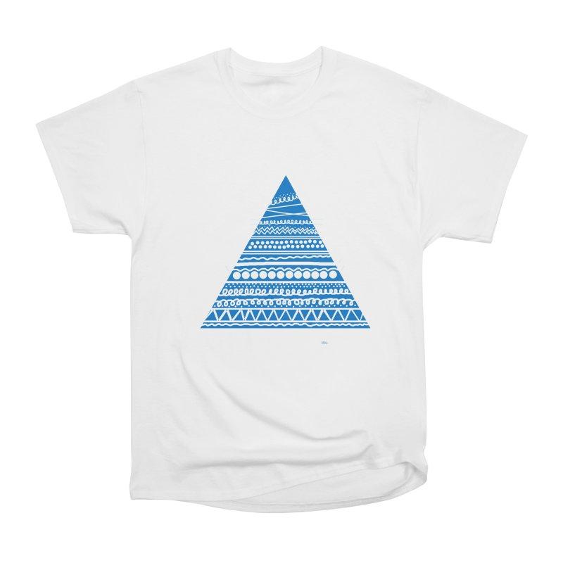 Pyramid blue Men's Classic T-Shirt by DERG's Artist Shop