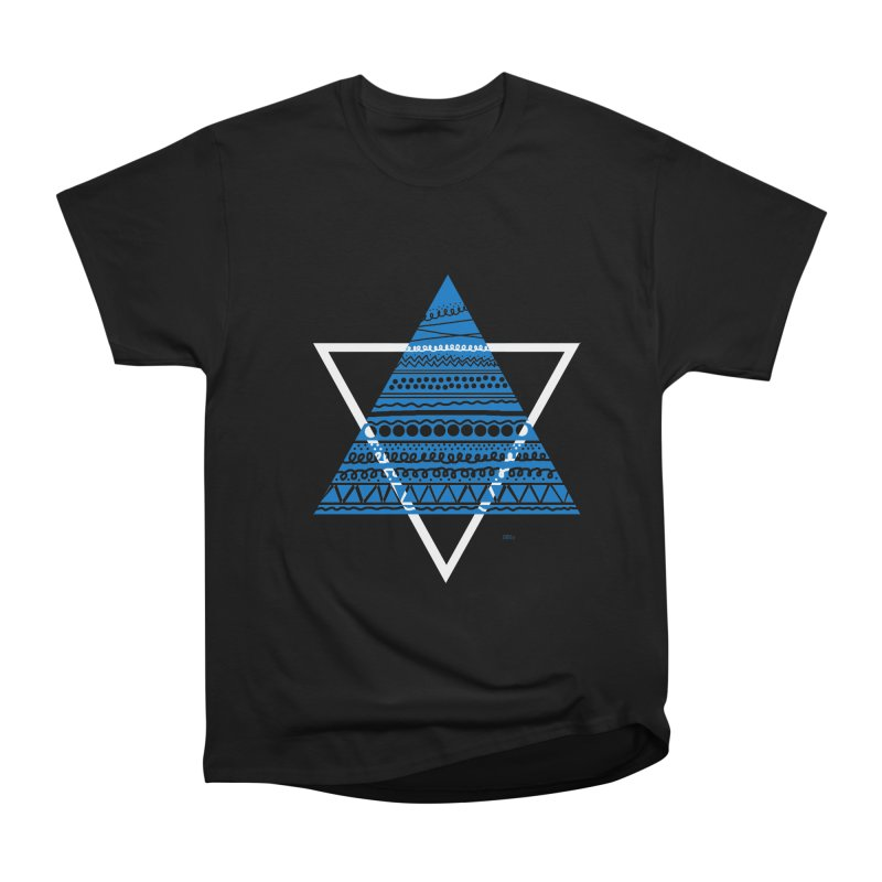Pyramid blue Men's Classic T-Shirt by DERG's Artist Shop