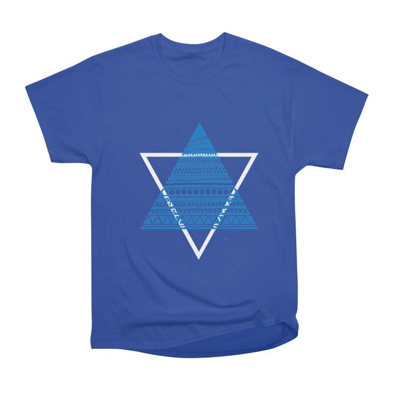 Pyramid blue Women's Classic Unisex T-Shirt by DERG's Artist Shop
