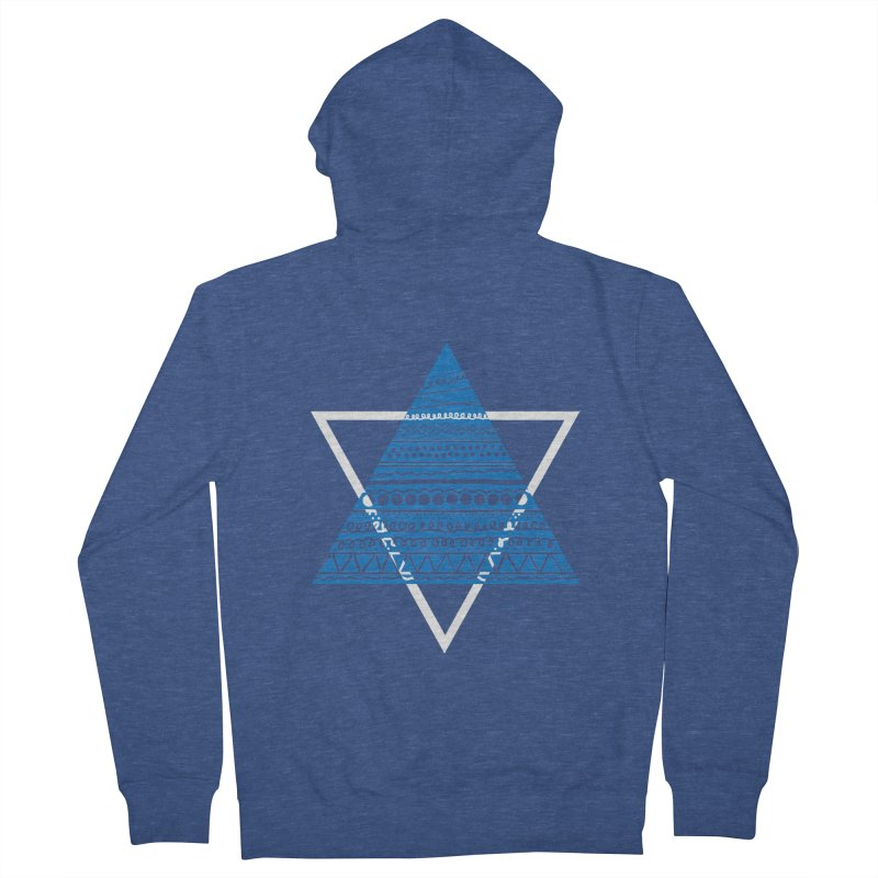Pyramid blue Women's Zip-Up Hoody by DERG's Artist Shop