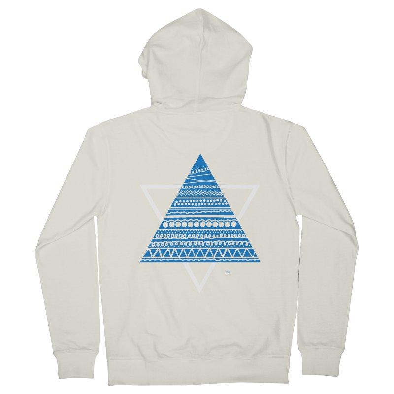 Pyramid blue Women's Zip-Up Hoody by DERG's Artist Shop