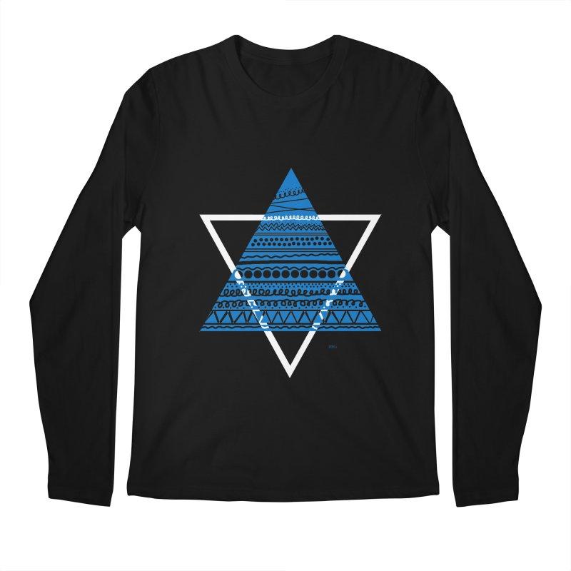 Pyramid blue Men's Longsleeve T-Shirt by DERG's Artist Shop