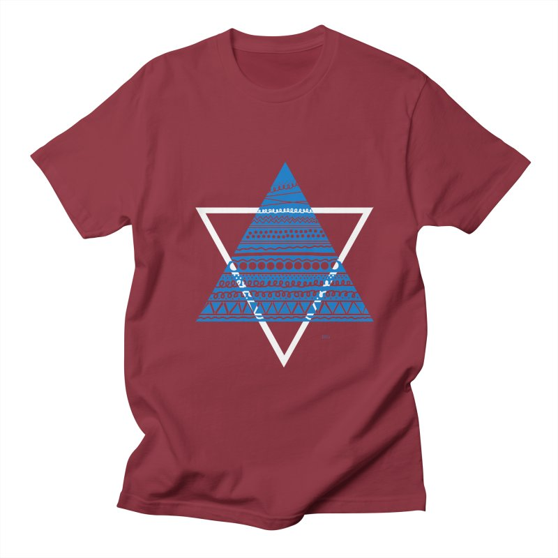 Pyramid blue Men's T-shirt by DERG's Artist Shop