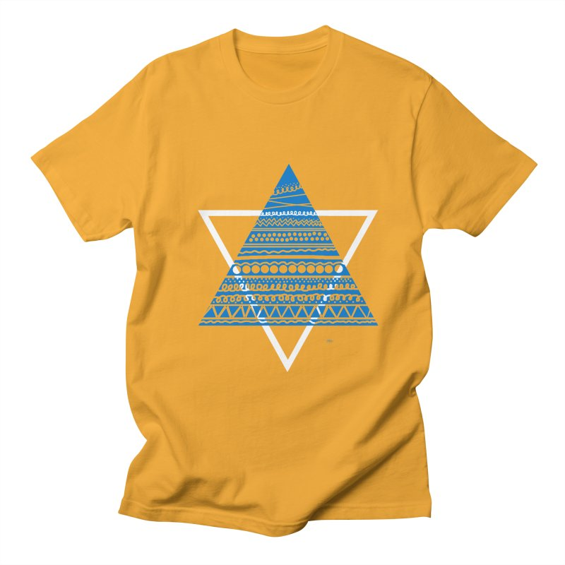 Pyramid blue Women's Unisex T-Shirt by DERG's Artist Shop