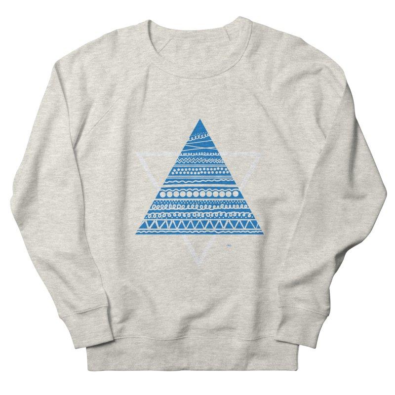 Pyramid blue Men's Sweatshirt by DERG's Artist Shop