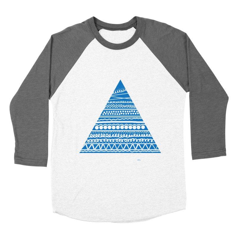 Pyramid blue Women's Baseball Triblend T-Shirt by DERG's Artist Shop