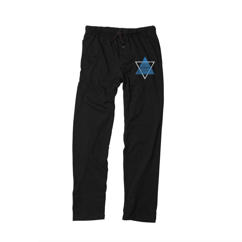 Pyramid blue Men's Lounge Pants by DERG's Artist Shop