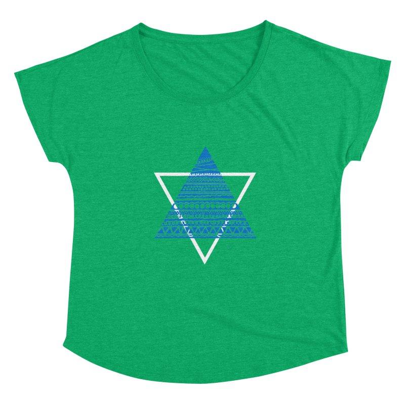 Pyramid blue Women's Dolman by DERG's Artist Shop