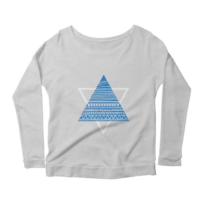 Pyramid blue Women's Longsleeve Scoopneck  by DERG's Artist Shop
