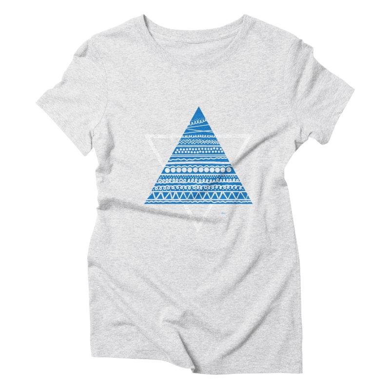 Pyramid blue Women's Triblend T-Shirt by DERG's Artist Shop
