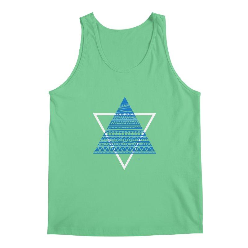 Pyramid blue Men's Tank by DERG's Artist Shop