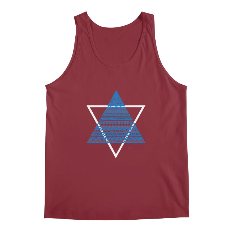 Pyramid blue Men's Tank by DERG's Artist Shop