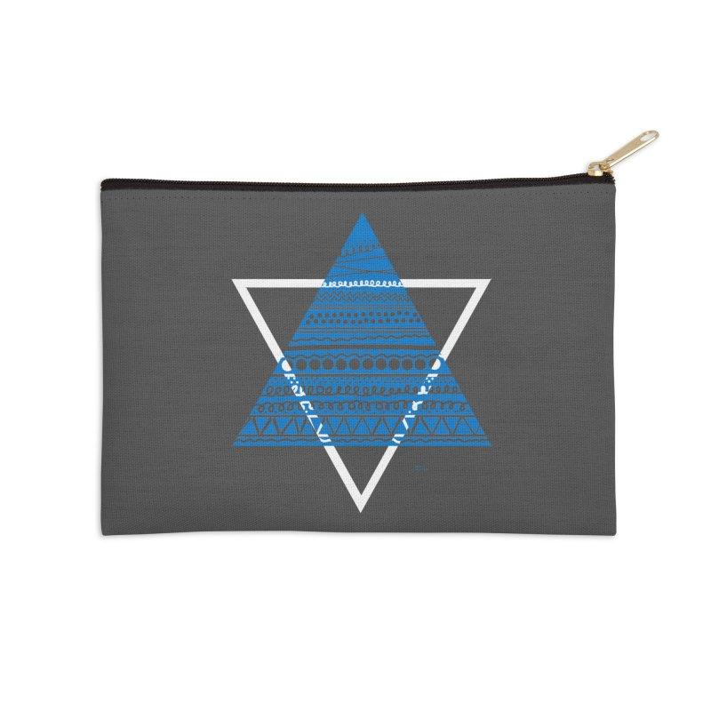 Pyramid blue Accessories Zip Pouch by DERG's Artist Shop