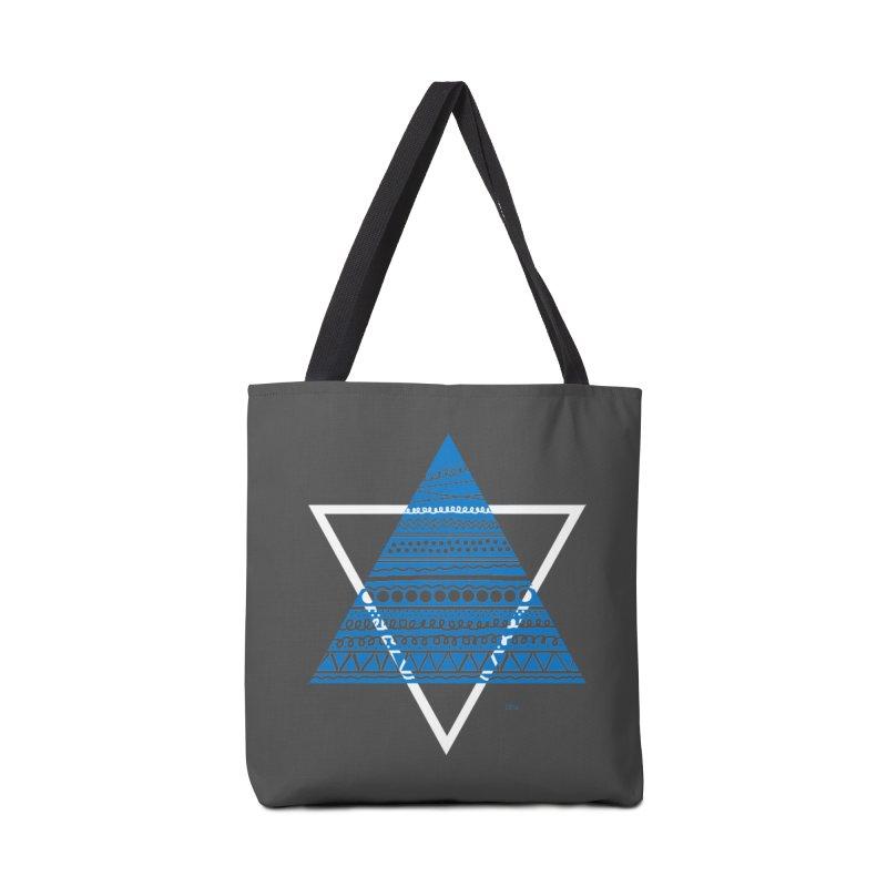 Pyramid blue Accessories Bag by DERG's Artist Shop