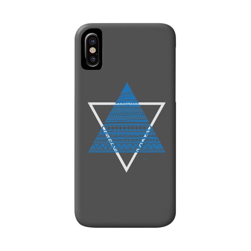 Pyramid blue Accessories Phone Case by DERG's Artist Shop