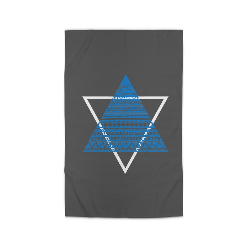 Pyramid blue Home Rug by DERG's Artist Shop